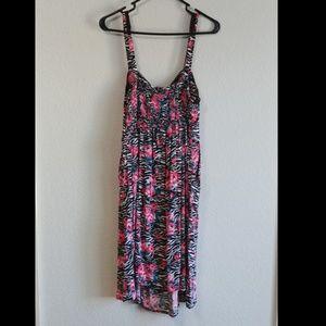 torrid Dresses - Floral Zebra Print Torrid Skater Dress